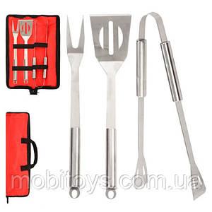 Набор для барбекю и гриля в чехле (вилка, лопатка, щипцы) Stenson (MH-0915)