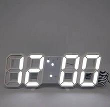 Электронные Led часы с будильником и термометром Ly 1089, white