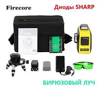 Лазерный 3D лазерный нивелир Firecore F93T-XG + ТРЕНОГА БИРЮЗОВЫЙ ЛУЧ