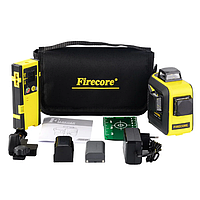 3D Лазерный уровень с лазерным приёмником Firecore F93T XG БИРЮЗОВЫЙ ЛУЧ