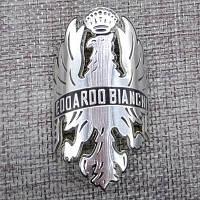 Шильдик, наклейка, логотип Bianchi (алюминевый)