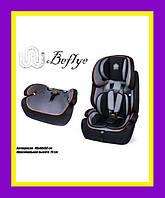 Детское автокресло BEFLYE универсальное черное, група 1,2,3, вес ребёнка 9-36 кг