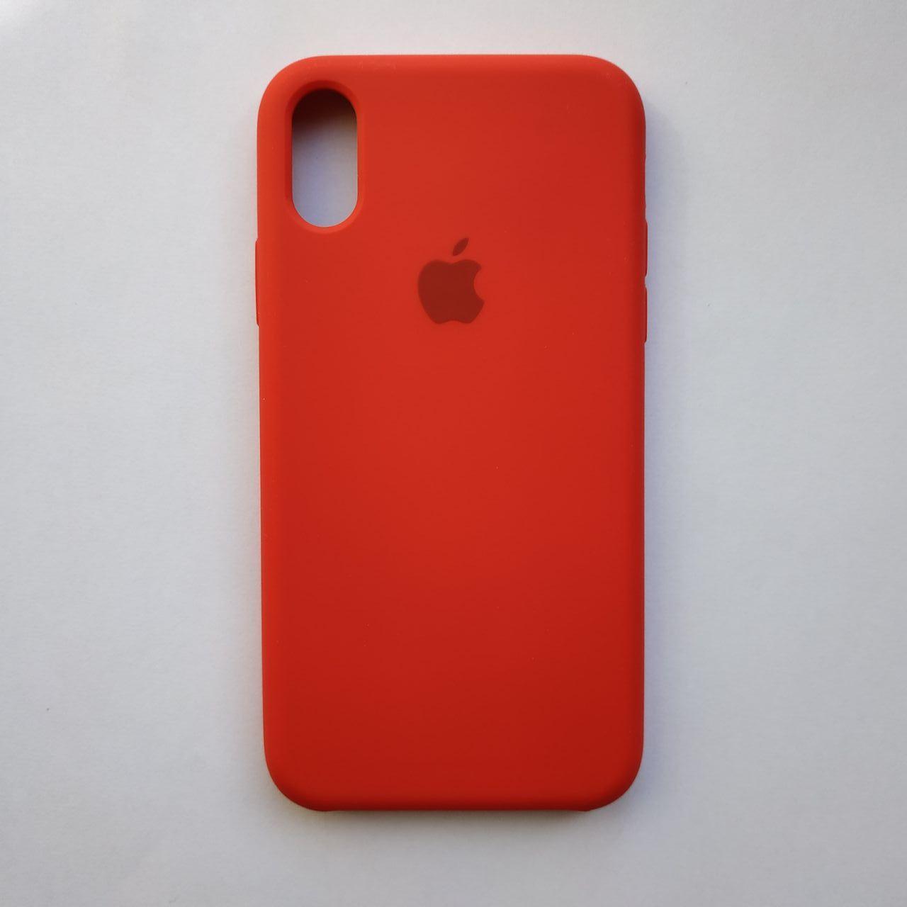 Чехол-накладка Silicone Case для Apple iPhone X iPhone XS Red