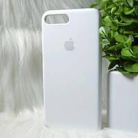 """Чехол силиконовый для Айфон 7+ 8 плюс / Iphone 7+ 8 plus белый """"Original Silicone case"""""""