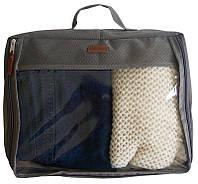 Большая дорожная сумка для вещей Organize P001 серый SKL34-176398