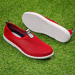 Кроссовки женские  Tellus 72-21R сетка красные
