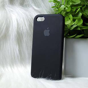 """Чехол силиконовый для айфон 5 / Iphone 5S / Iphone SE Черный """"Original Silicone case"""""""