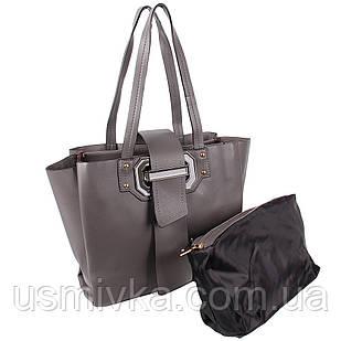 Сумка женская Fashion 2 в 1 темно-серая 401621Dg