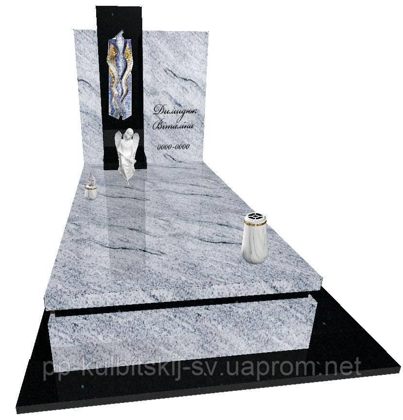 Пам'ятник гранітний з ангелом Елітний S9077