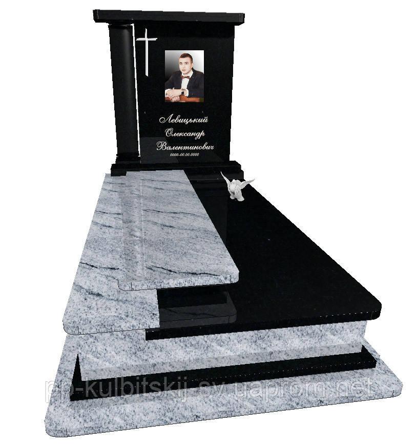 Пам'ятник гранітний на одного Елітний S9080