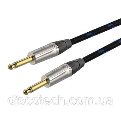 Готовый инструментальный кабель Roxtone TGJJ300L3, 1x0.22 кв.мм, вн.диаметр 6,5 мм, 3 м