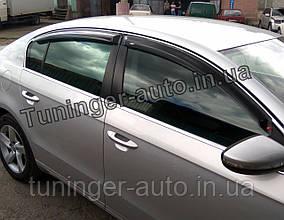 Ветровики, дефлекторы окон Volkswagen Passat В6/B7  2005-2014 (Hic)