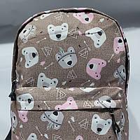 """Яркий городской рюкзак """"Мишки"""", школьный рюкзак, спортивный рюкзак"""