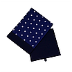 Скринька ( коробка ) для зберігання, 25*25*30 см, (бавовна), з відворотом (зірочки на синьому/темно-синій), фото 2