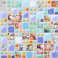 Пластиковая Декоративная Панель ПВХ мозаика ЛАГУНА (955X480) мм