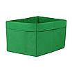 Скринька ( коробка ) для зберігання, 25*35*20 см, (спанбонд), з відворотом (зелений), фото 4