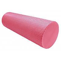 Массажный ролик Power System для фитнеса и аэробики Fitness Roller PS-4074 Pink, 45х15 SKL24-145136