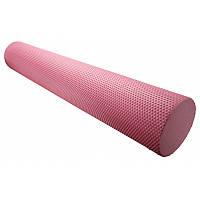 Массажный ролик Power System для фитнеса и аэробики Fitness Roller PS-4075 Pink, 90х15 SKL24-145581