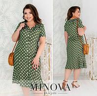 Платье женское на пуговицах (3 цвета) ЕЕ/-8613 - Хаки, фото 1