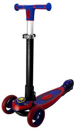 Трехколесный Детский СамокатJetta с подсветкой платформы и складной ручкой, фото 2