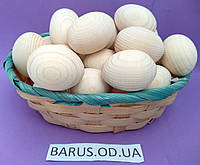 Пасхальные Яйца деревянные заготовки перепелиные 40*30 мм