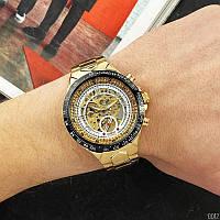 Часы механические Winner 8067 Gold-Black-White Red Cristal