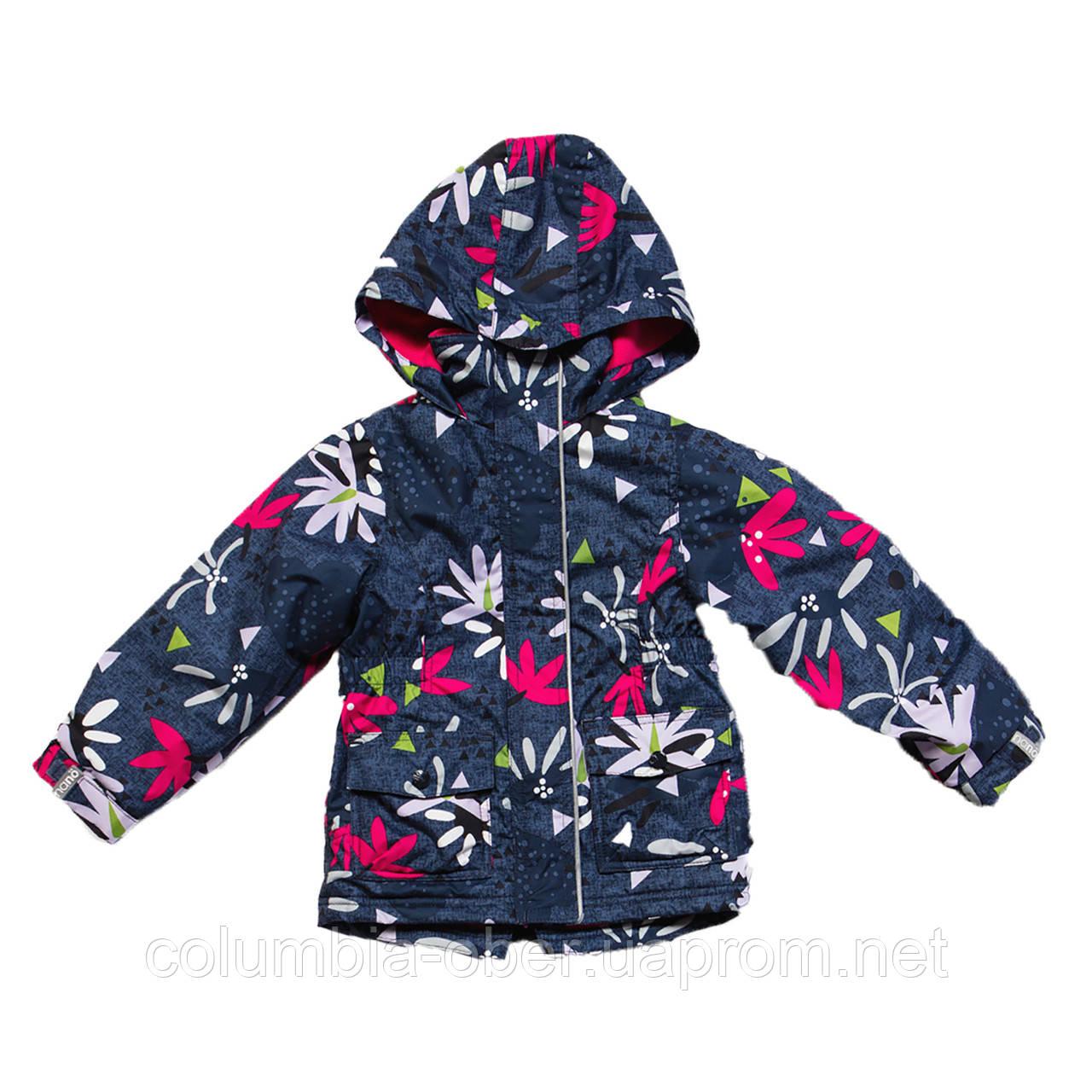 Демисезонная куртка-ветровка для девочки Nano S17J256 Flower. Размеры 12 мес - 10 лет.