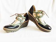 Туфли женские черные на платформе босоножки Fly London (Размер 39 (EUR40))