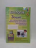 Біологія 8 клас Зошит для лабораторних робіт та дослідницького практикуму Матяш Генеза ISBN 978-966-11-0756-3