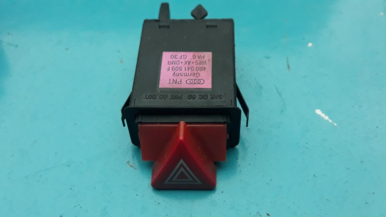Кнопка аварийной сигнализации аварийки audi a6 c5 ауди а6 с5 4B0941509F