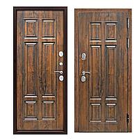 Двери входные квартирные Таримус Групп ISOTERMA 130 мм Vinorit Грецкий орех Патина МДФ / МДФ