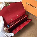 Женский кошелёк, клатч Луи Витон, кожаный, фото 2