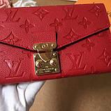 Женский кошелёк, клатч Луи Витон, кожаный, фото 5