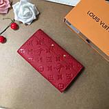 Женский кошелёк, клатч Луи Витон, кожаный, фото 4