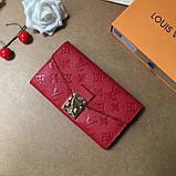 Женский кошелёк, клатч Луи Витон, кожаный, фото 7