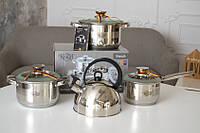 Набор посуды Krauff 6 предметов, в подарок Чайник Krauff 3л SKL42-229234