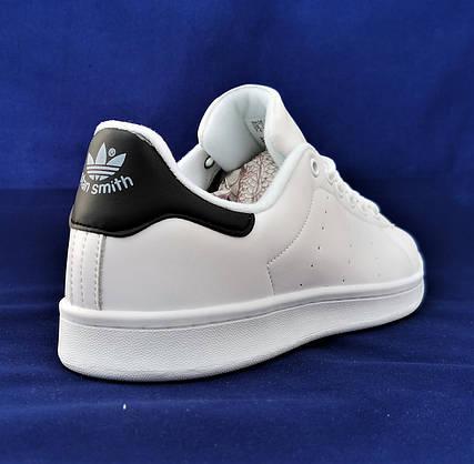 Кросівки ADIDAS Stan Smith Білі Чоловічі Адідас (розміри: 41,42,44,45) Відео Огляд, фото 3