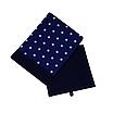 Скринька для зберігання, 30*30*40 см, (бавовна), з відворотом (зірочки на синьому/темно-синій), фото 3
