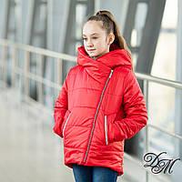 Куртка демисезонная для девочки «Эли» красный 5-9 лет