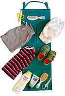 Подвесной органайзер для шкафчика в детский сад Organize зеленый E002 SKL34-176307