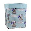 Скринька ( коробка ) для зберігання, 30*30*40 см, (бавовна), з відворотом (Its a Boy! на бірюзовому/ментол), фото 2