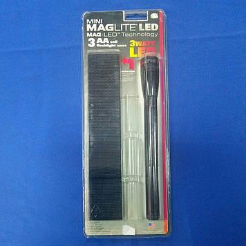 Ліхтарик MagLite LED блист+3R6 черн 3W
