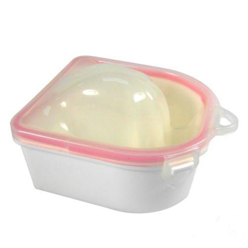 Маникюрная ванночка с двойным дном пластиковая, белая