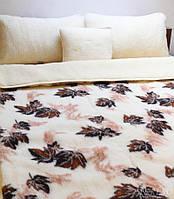 Одеяло из овчины с узором двухслойное (в 2 сложения)