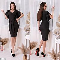 Модное платье с воланами, чёрный, №215, 42-46р.