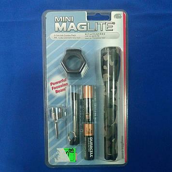 Ліхтарик MagLite +кліп,шнурок,светофил.+2R6 камуфл