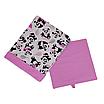 Скринька для зберігання, 25*25*30 см, (бавовна), з відворотом (панди з кульками/рожевий), фото 2