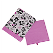 Скринька (ящик/коробка) для зберігання, 25*25*30см, (бавовна), з відворотом (панди з кульками/рожевий), фото 2