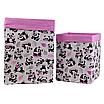 Скринька для зберігання, 25*25*30 см, (бавовна), з відворотом (панди з кульками/рожевий), фото 3