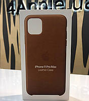 Чехол для iPhone 11ProMax - Apple Leather Case Saddle, Brown (MWOD2ZM/A) ОРИГИНАЛ